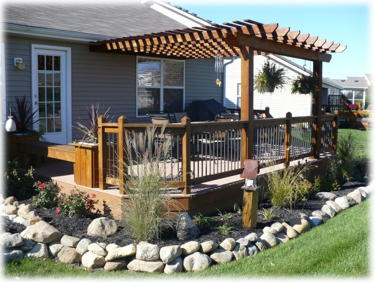 Deck With Pergola With Images Deck With Pergola Patio Backyard