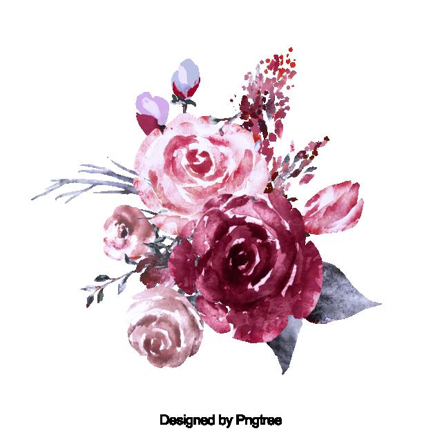 2020 的 Beautiful Hand Paint Watercolor Rose Flower, Flower