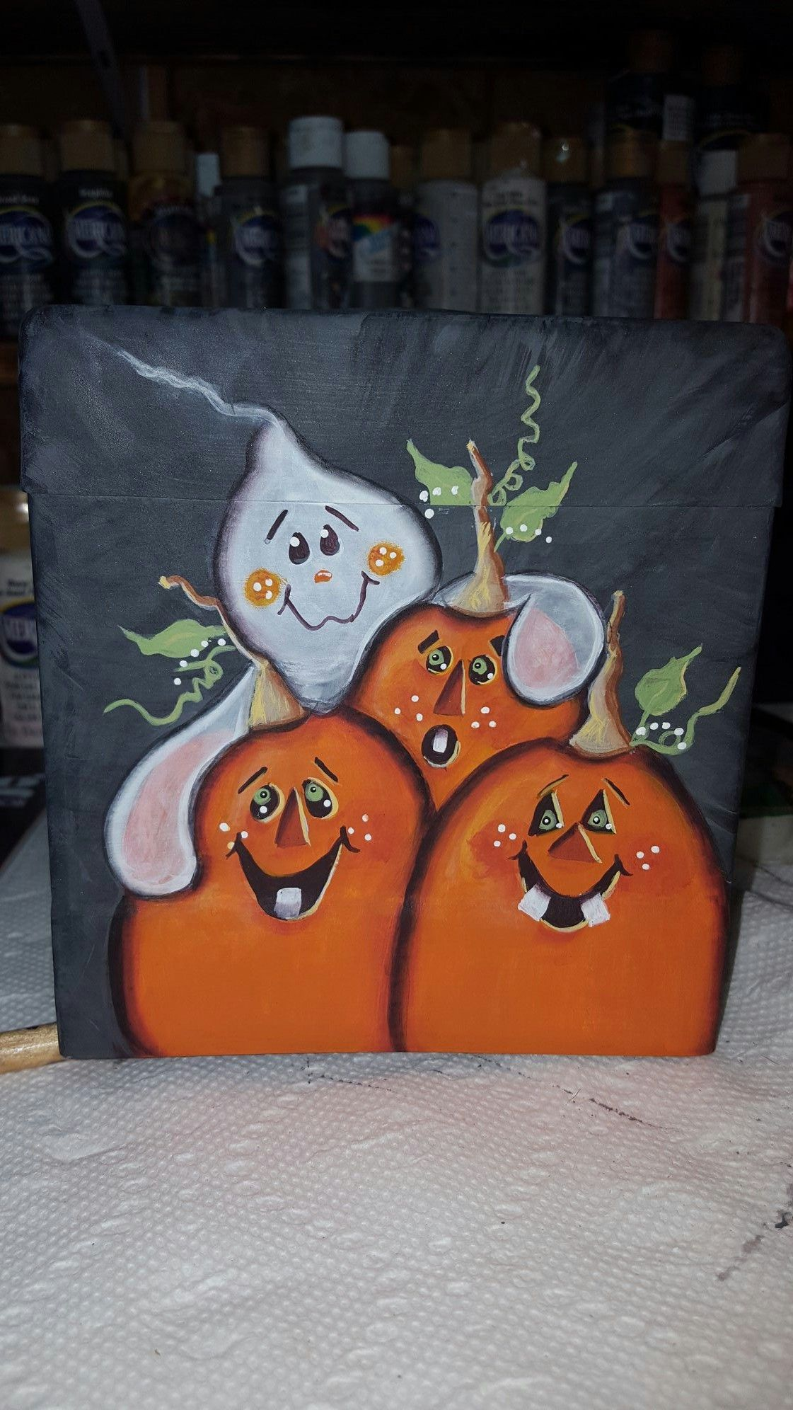 Pin By Jackie Warren Dunaway On Canvas Paintings Halloween Canvas Paintings Halloween Painting Halloween Canvas