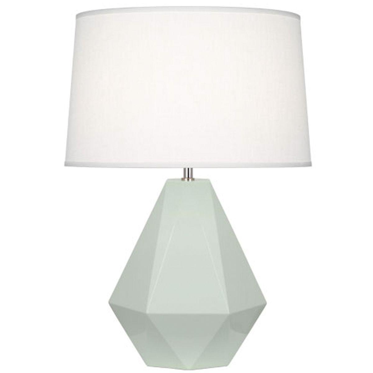Celadon Lamp Geometric Lamp Seafoam Lamp Lighting