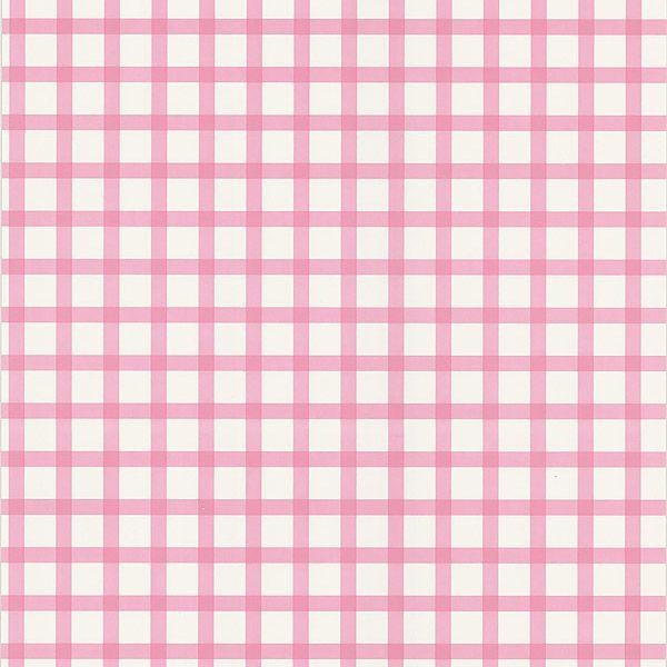 Ng63844 pink checkered pattern gingham brewster wallpaper