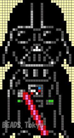 Darth Vader - Star Wars Perler Bead Pattern - BEADS Tokyo