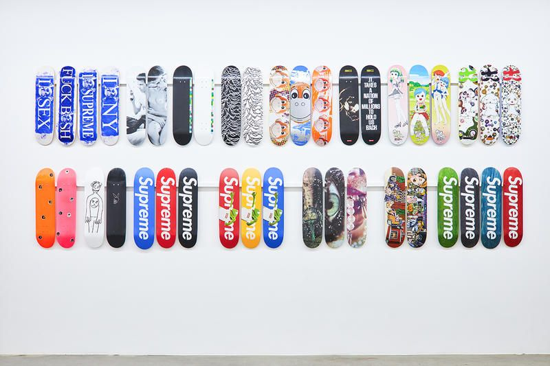 8de5d6e8 supreme skateboard deck inferno exhibition jason vass gallery stockx  sothebys collection complete entire every print graphic exclusive archive  collection ...