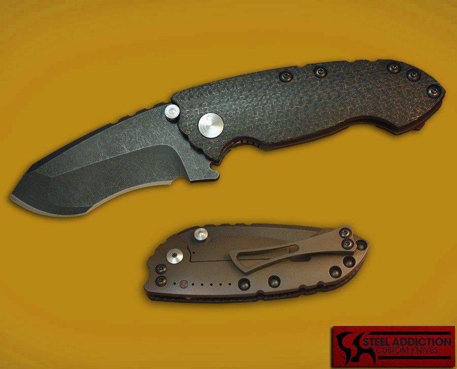 DireWare Knives GEN 4 SOLO In Lightning Strike Carbon Fiber - Direware Knives - Knife Makers