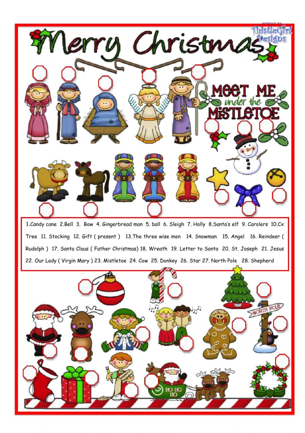 Christmas pictionary - Interactive worksheet | Games | Pinterest ...