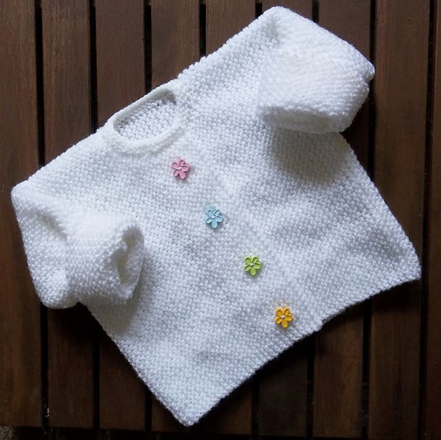 b03045f6bd0d Ravelry  Little Flower Garter Stitch Cardigan pattern by Audrey ...