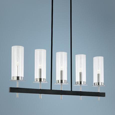Robert Sonneman Tuxedo 5 Light Pendant Bar Chandelier from Lamps – Bar Chandelier