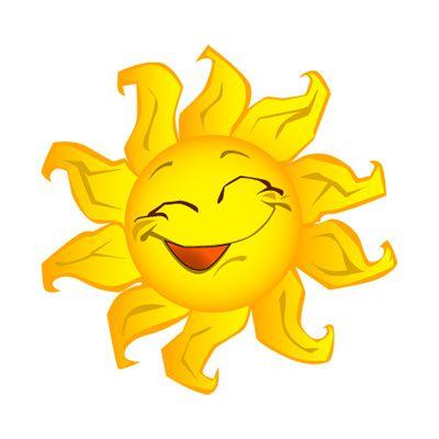 sunshine clip art | Sun Clip Art, Bright Happy Summer Sun Face ...