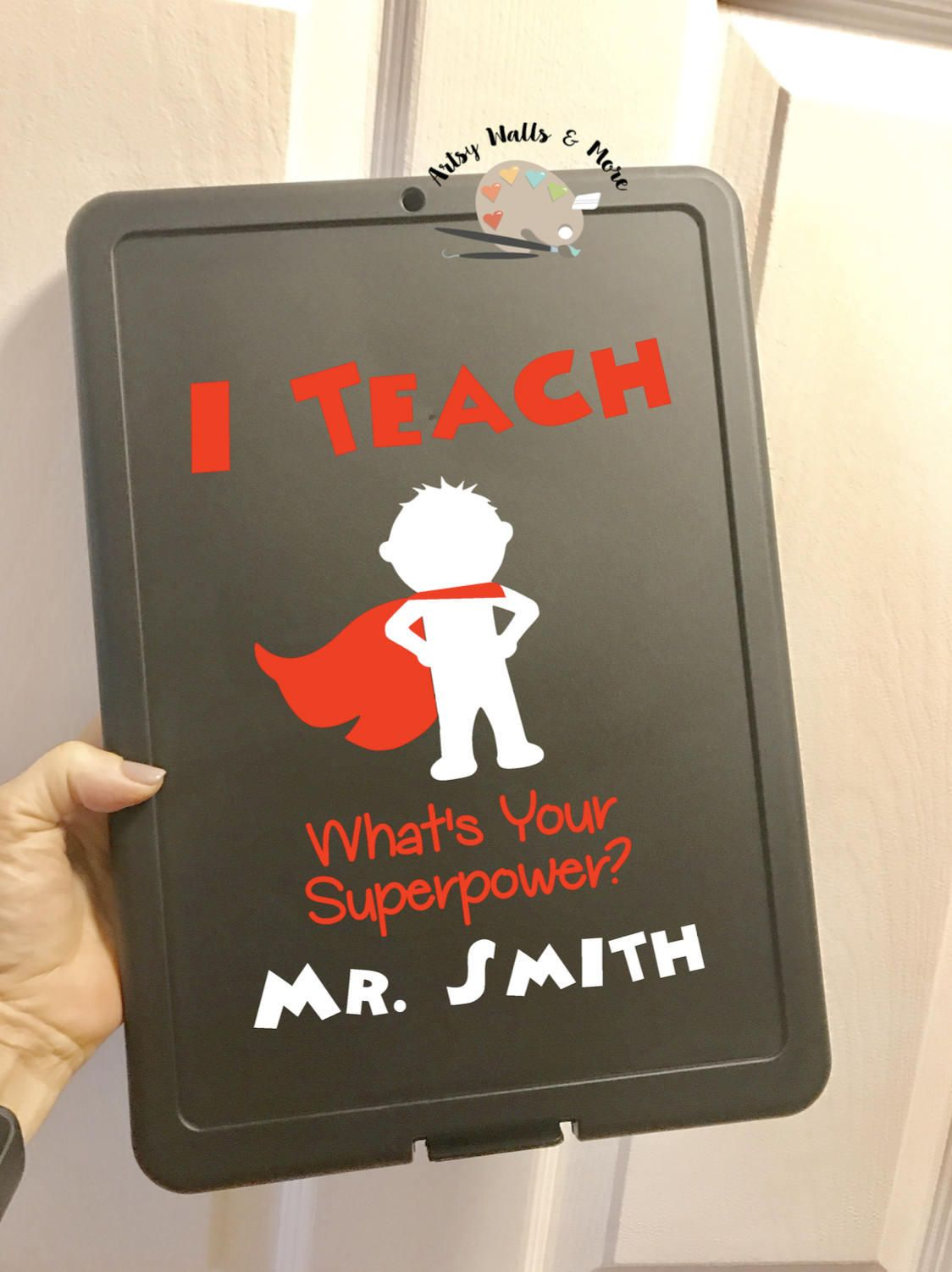 I Teach What\'s Your Superpower Teacher Gift clipboard, Personalized ...