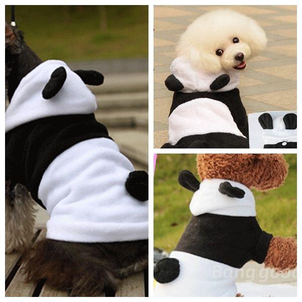 Us 17 13 Winter Cat Dog Panda Style Thick Warm Cotton Dog Cat Coat Jumpsuit Pet Supplies From Home And Garden On Banggood Com Ropa Para Perros Sueteres Para Perros Suministros Para Gatos