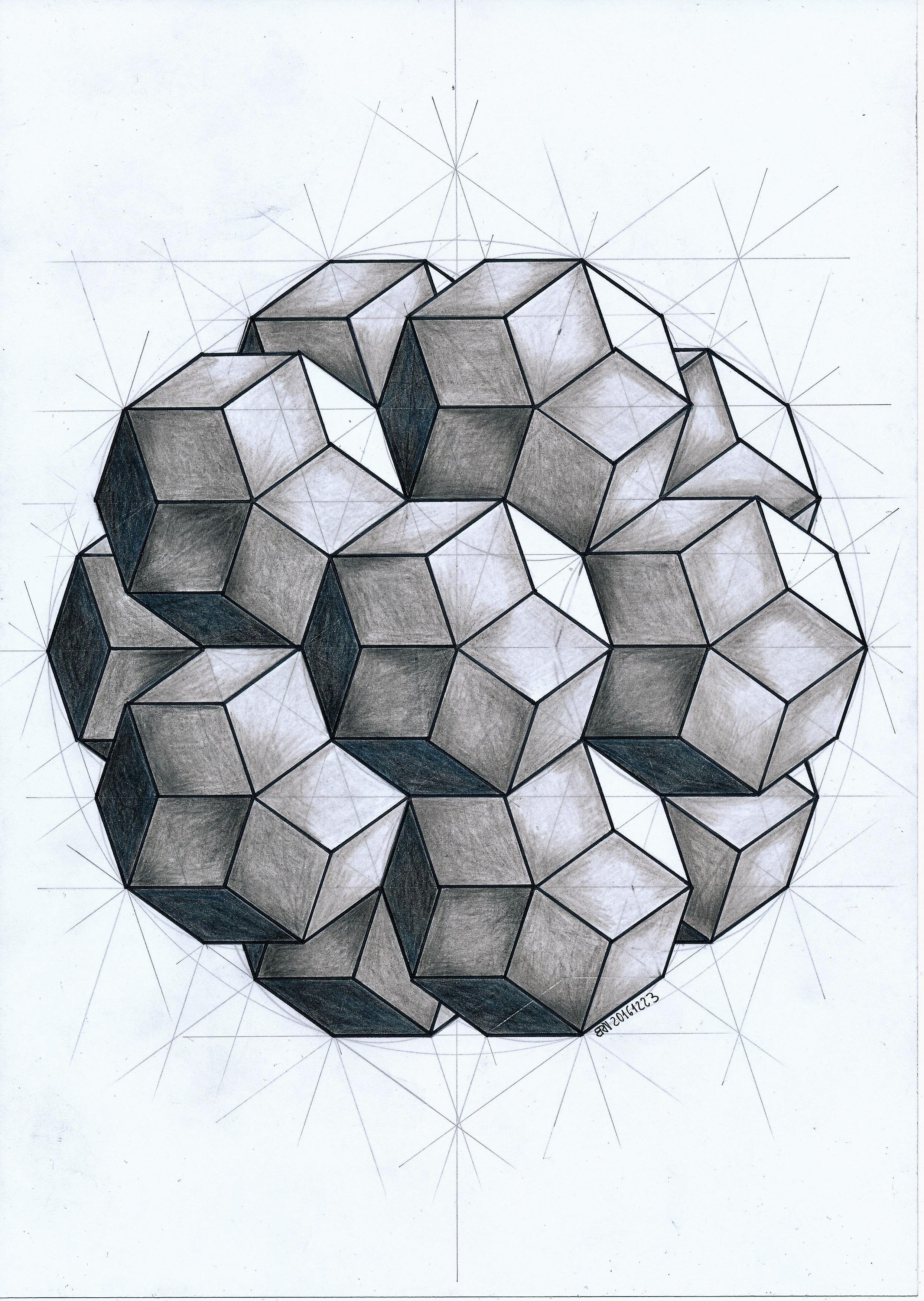 Solid Polyhedra Geometry Symmetry Pattern Handmade Regolo54 Mathart Escher Pencil Pentagon Star Arte De Geometria Arte Geometrico Geometria