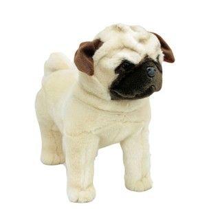 Pug Dog Stuffed Animal Medium Fawn Pugley Bocchetta Plush Toys