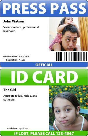 Make Your Own Id Card Press Pass Name Tag Or Any Other