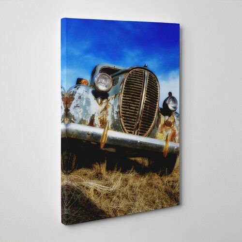 Big Box Art Vintage Classic Car Rusted Photographic Print on Canvas | Wayfair.co.uk
