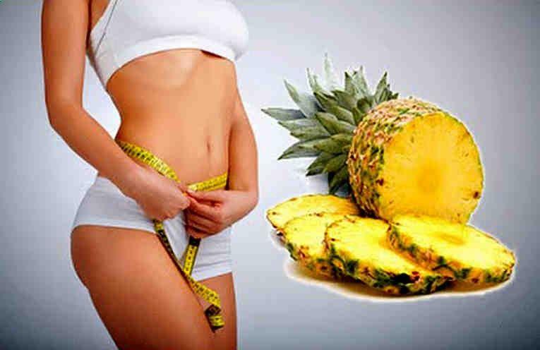 La piña es una fruta rica. jugosa y refrescante, y además es una fruta muy saludable. Nos ayuda a eliminar el exceso de líquido de nuestro cuerpo que es un diurético excelente. La piña contribuye enzimas, fibra, agua, vitaminas, calcio, vitamina C, minerales, etc. También facilita la eliminaciónhttp://vervideoaqui.com/salud/perder-3-kilos-una-semana-la-dieta-pina-sin-hambre/