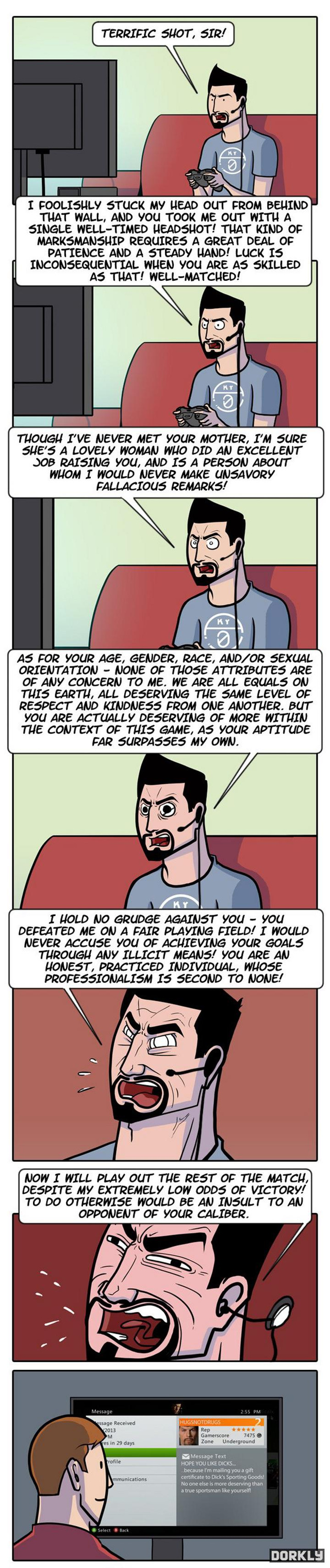 In An Alternate Universe, People On Xbox Live Rage Like This (via Kotaku.com)