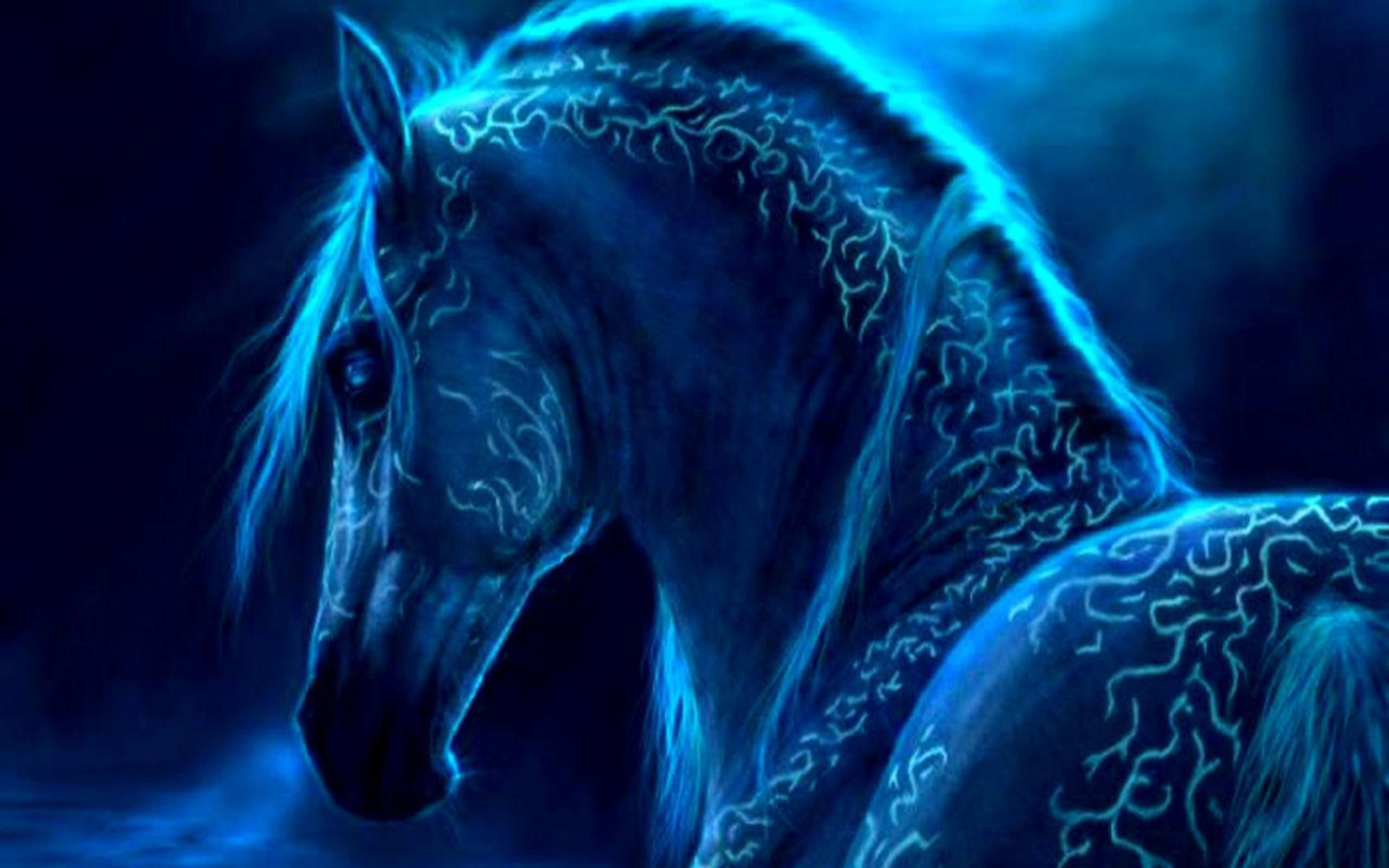Horse Wallpaper The Soul Blue Fantasy Horses Horses Blue Horse