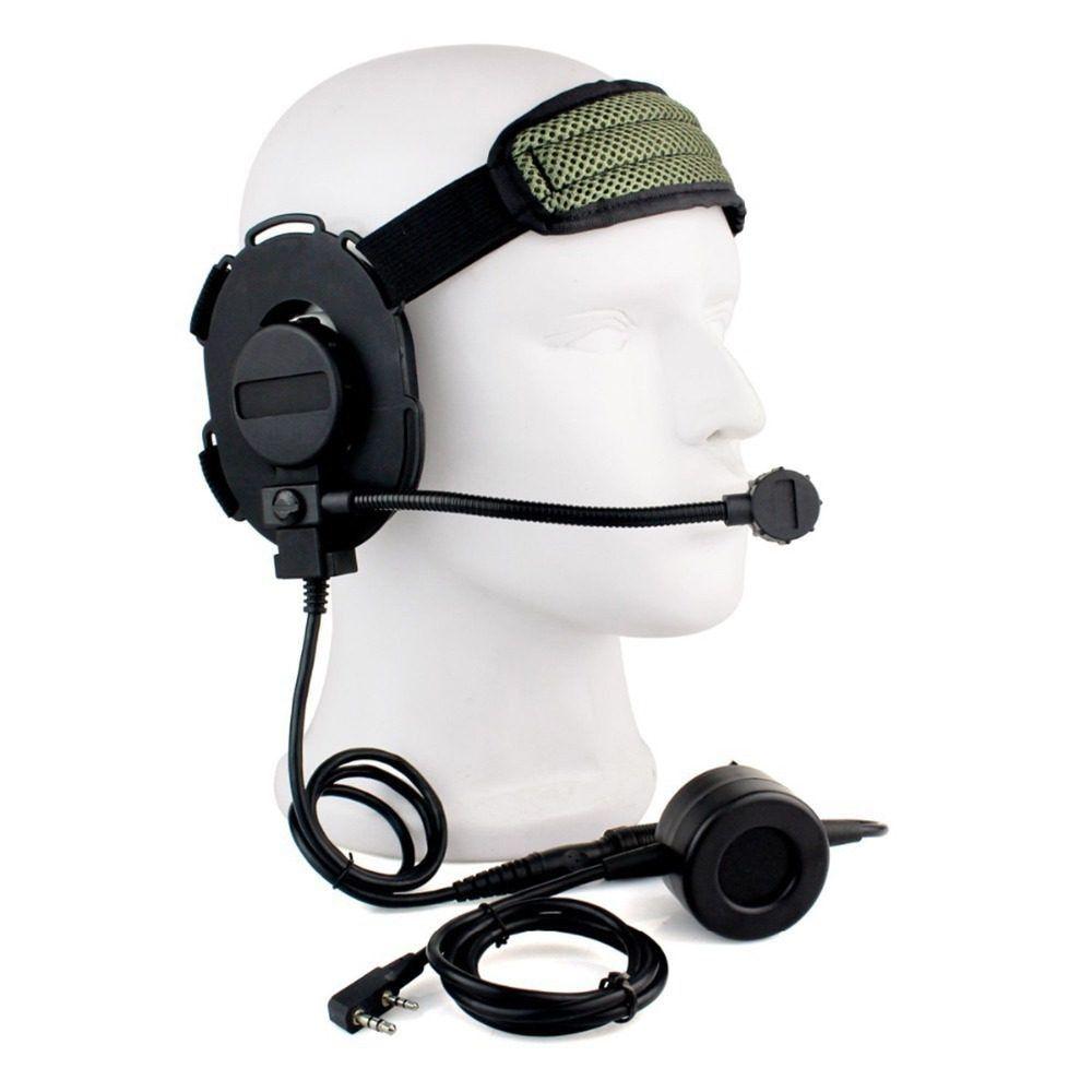 CS HD01 Z Tactical Headset Earpiece Mic with U94 PTT Baofeng UV-5R Kenwood Radio