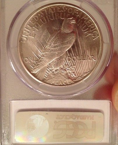 1921 MS 64 BRIGHT WHITE Peace Dollar- PCGS - http://mostbidded.com/ads/1921-ms-64-bright-white-peace-dollar-pcgs