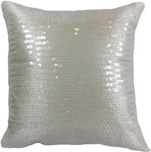 amazoncom decorative transparent sequins floral throw pillow 18 white - White Decorative Pillows