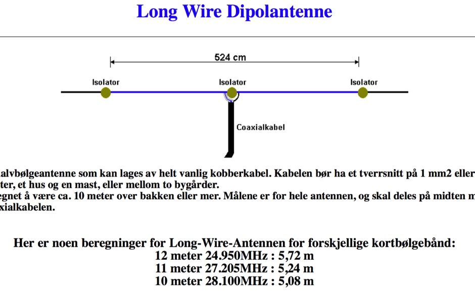 Long Wire Dipole Antenna   Amateur Radio   Dipole antenna