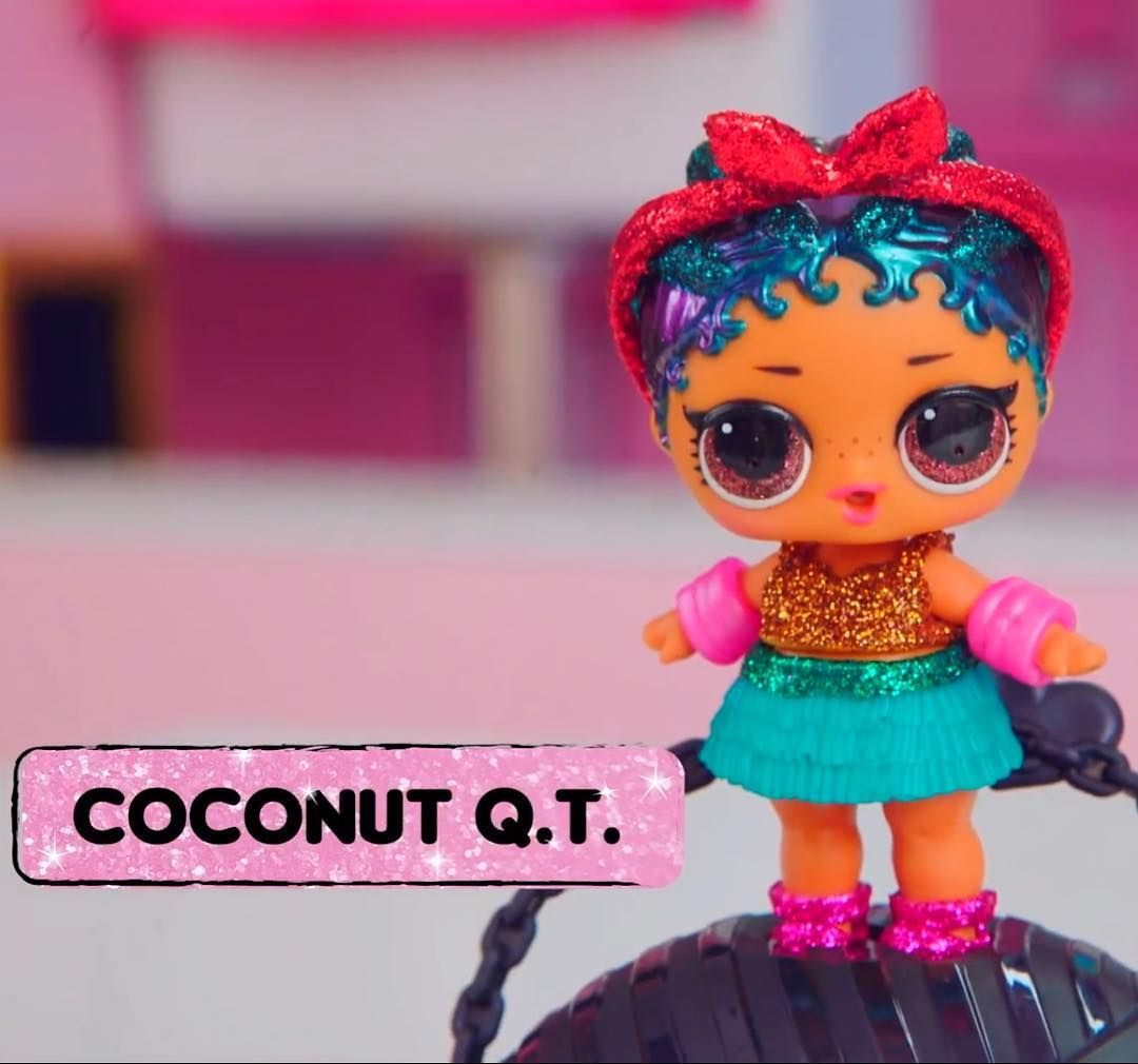 Brand New Sealed Complete Lol Doll Glam Glitter Coconut Qt Only Clue Checked Other Dolls