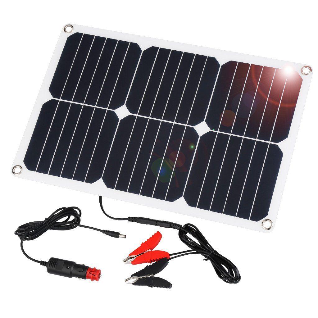 Suaoki 18v 12v 18w Solar Car Battery Charger Portable Solar Panel Trickle Charge Solar Car Solar Panel Charger Solar Battery