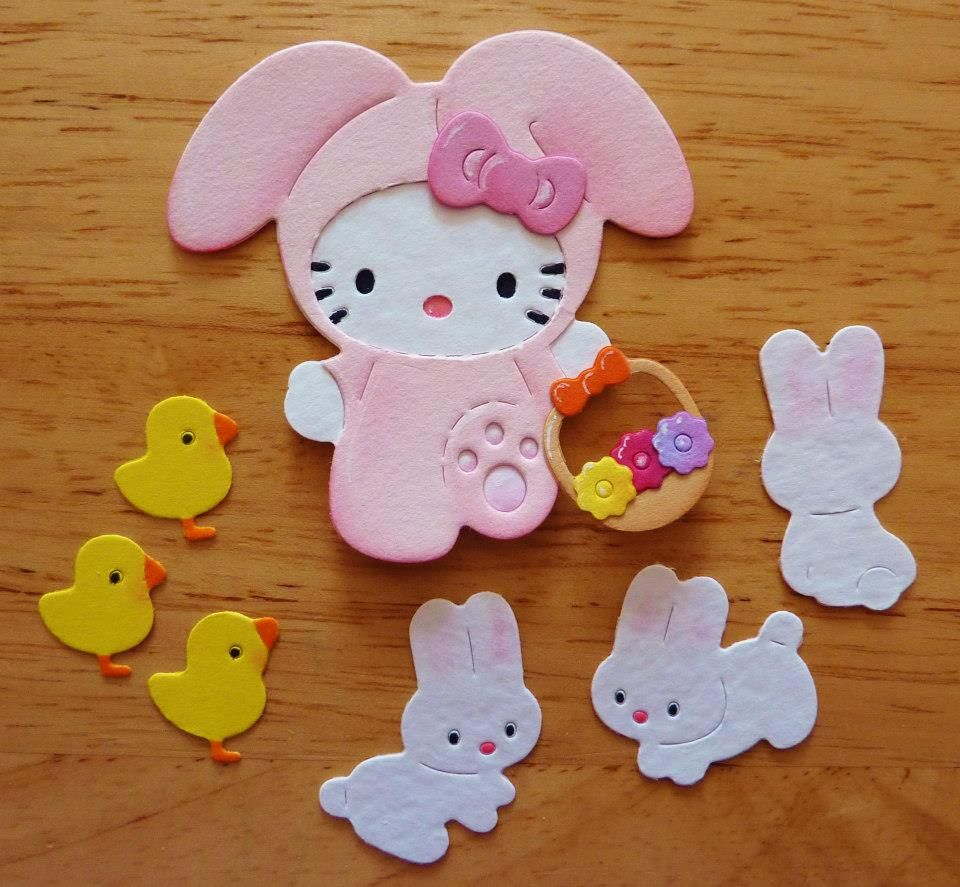 Sizzix Kitty Easter Themed Die Cuts