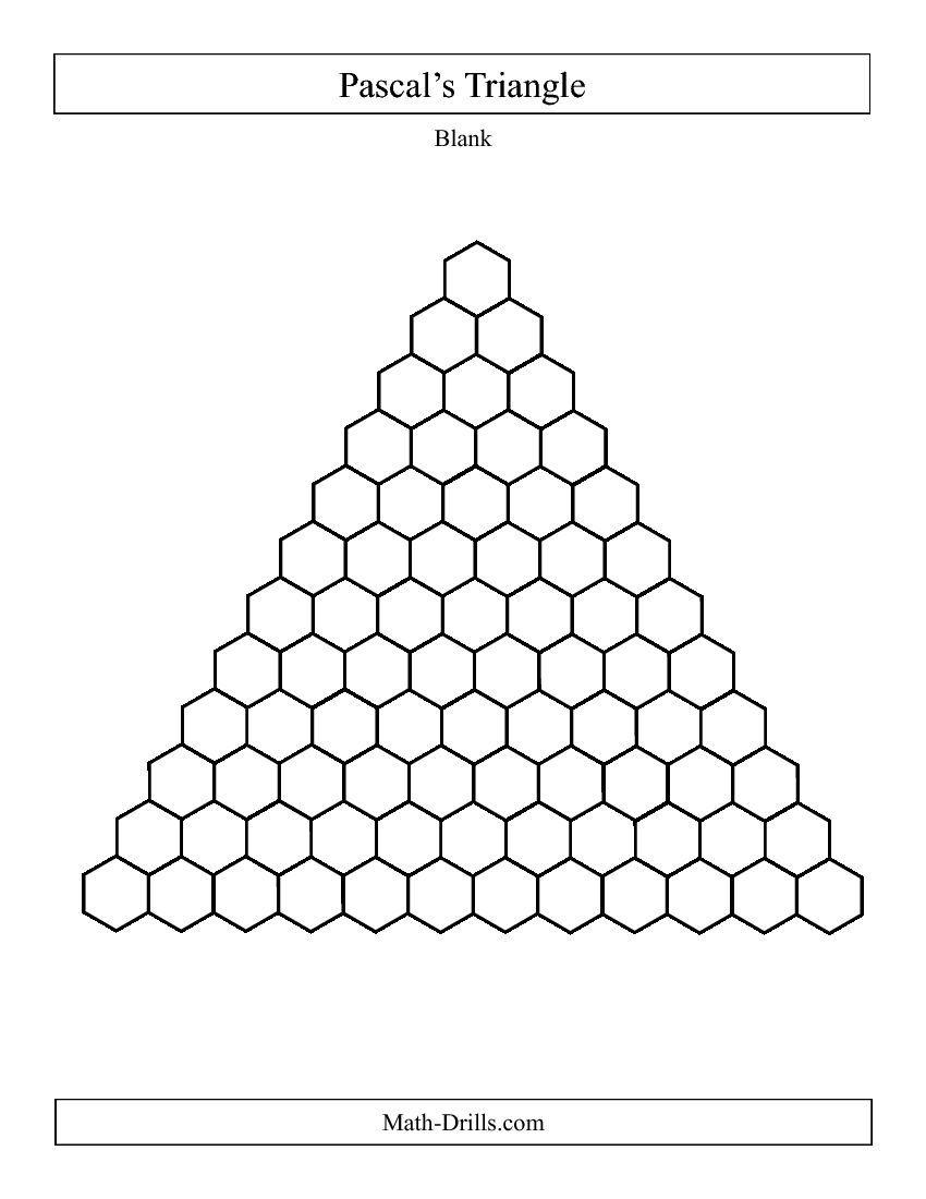 unit 8 Pascal\'s Triangle -- Blank PDF (Algebra 2 activity ...