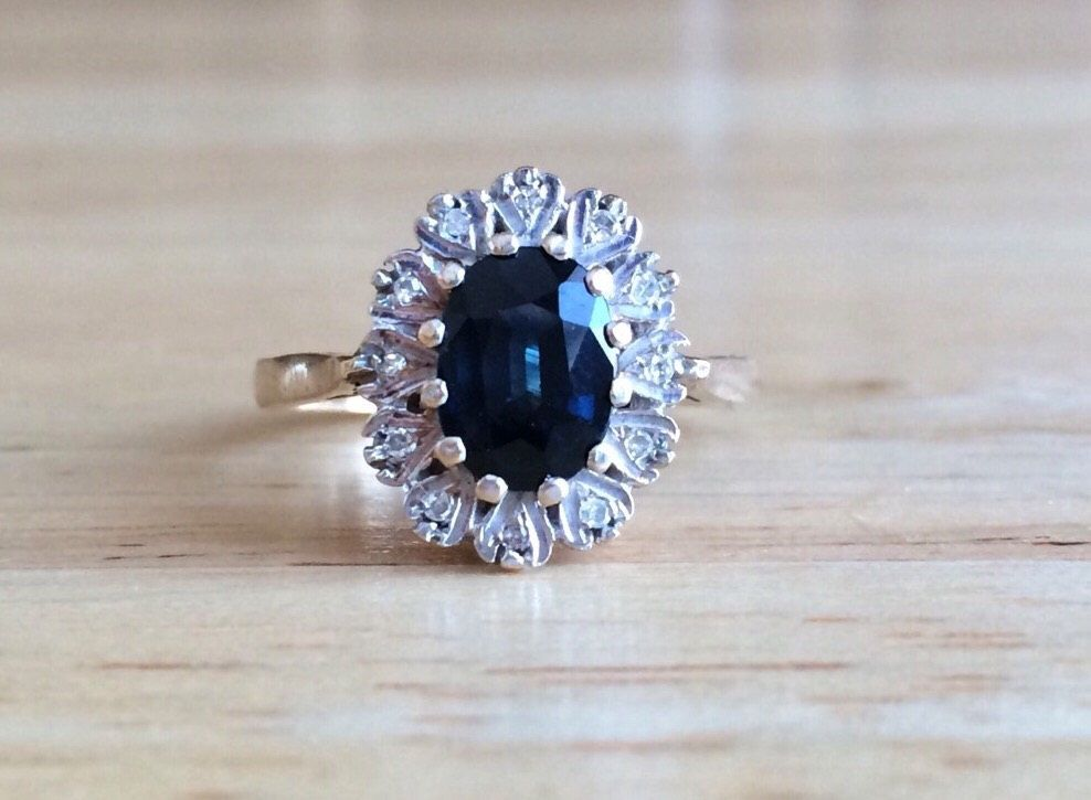 mothers grandma blue september sarah sapphire laurie rings wedding milgrain stacking with ring birthstone product natural miglrain gift and sapphires