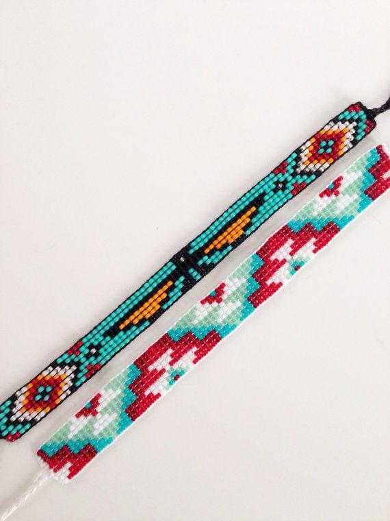 Custom Beaded Friendship Bracelet por UnderThoseNeonLights en Etsy ...