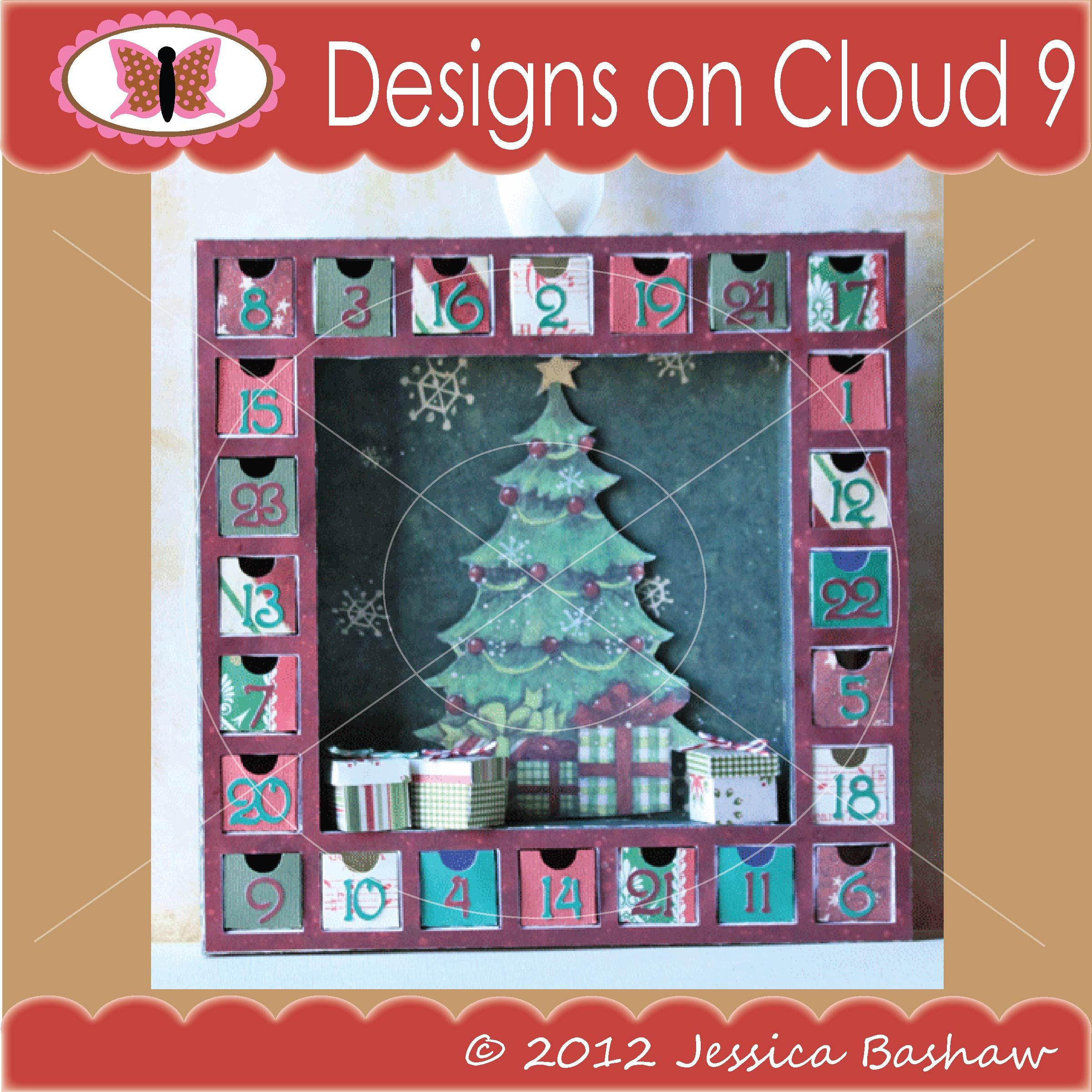 designs on cloud 9 christmas advent calendar svg and cutting files