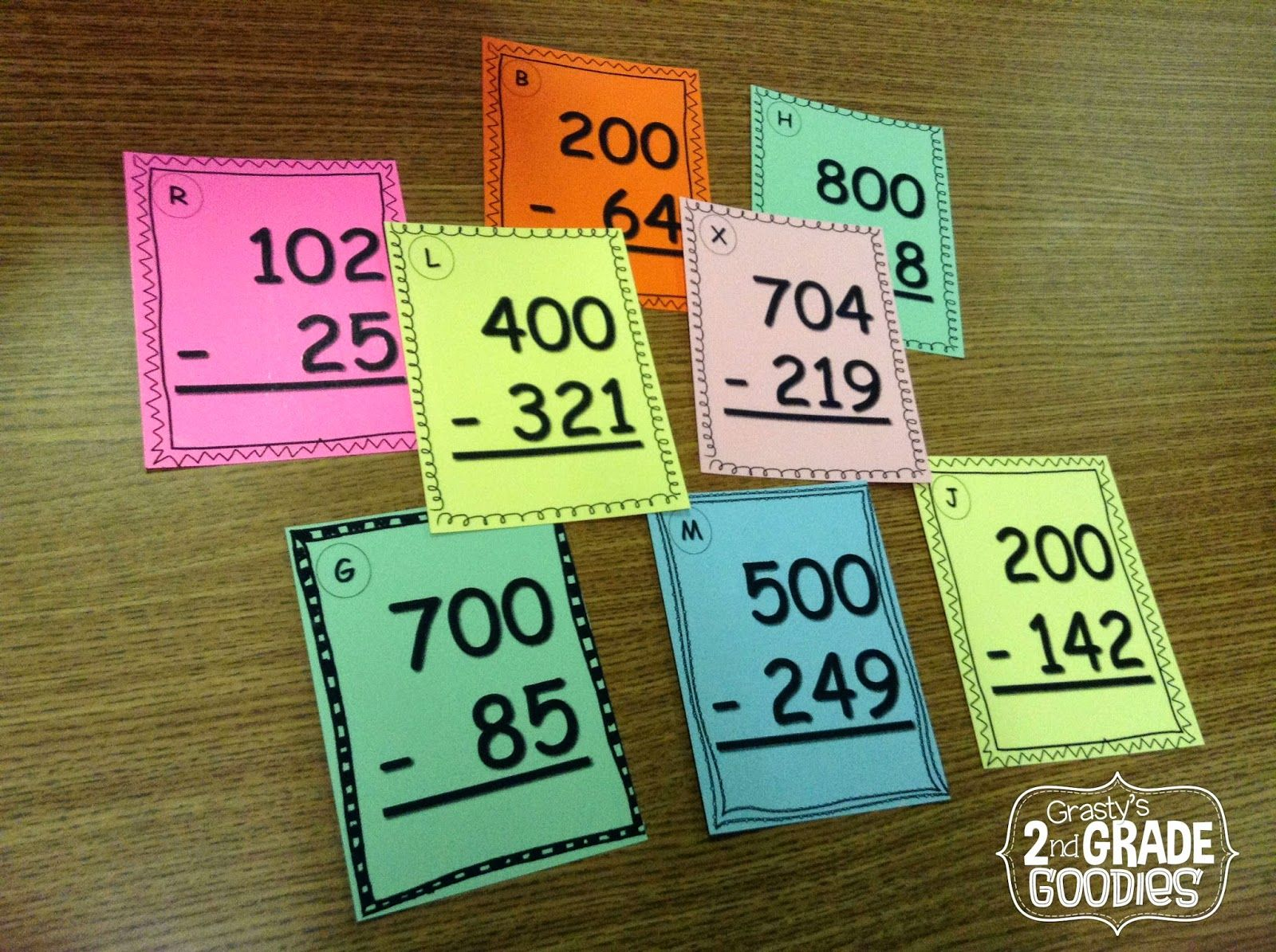 Task Cards For Subtracting Across Zeros