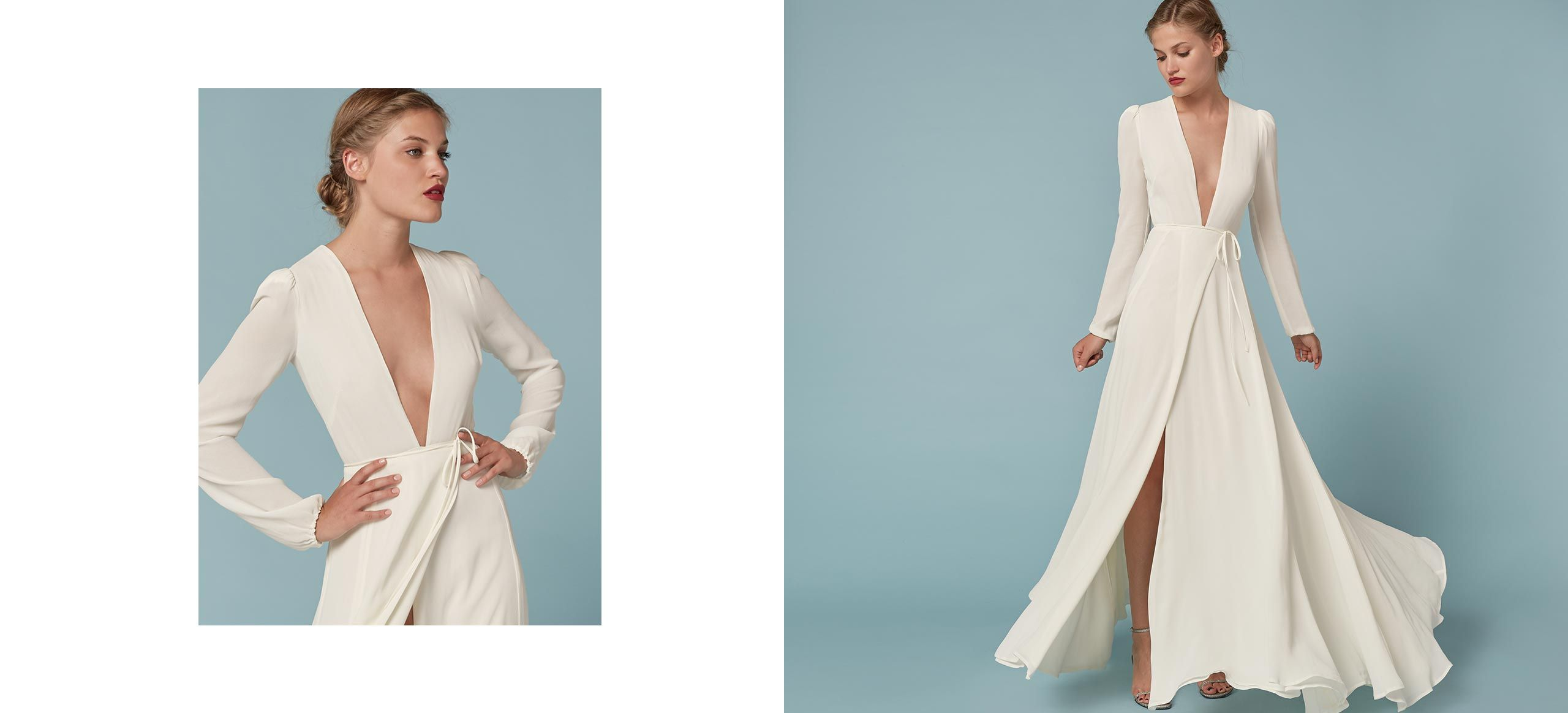 Thea Dress | Perfect wedding, Wrap dresses and Neckline