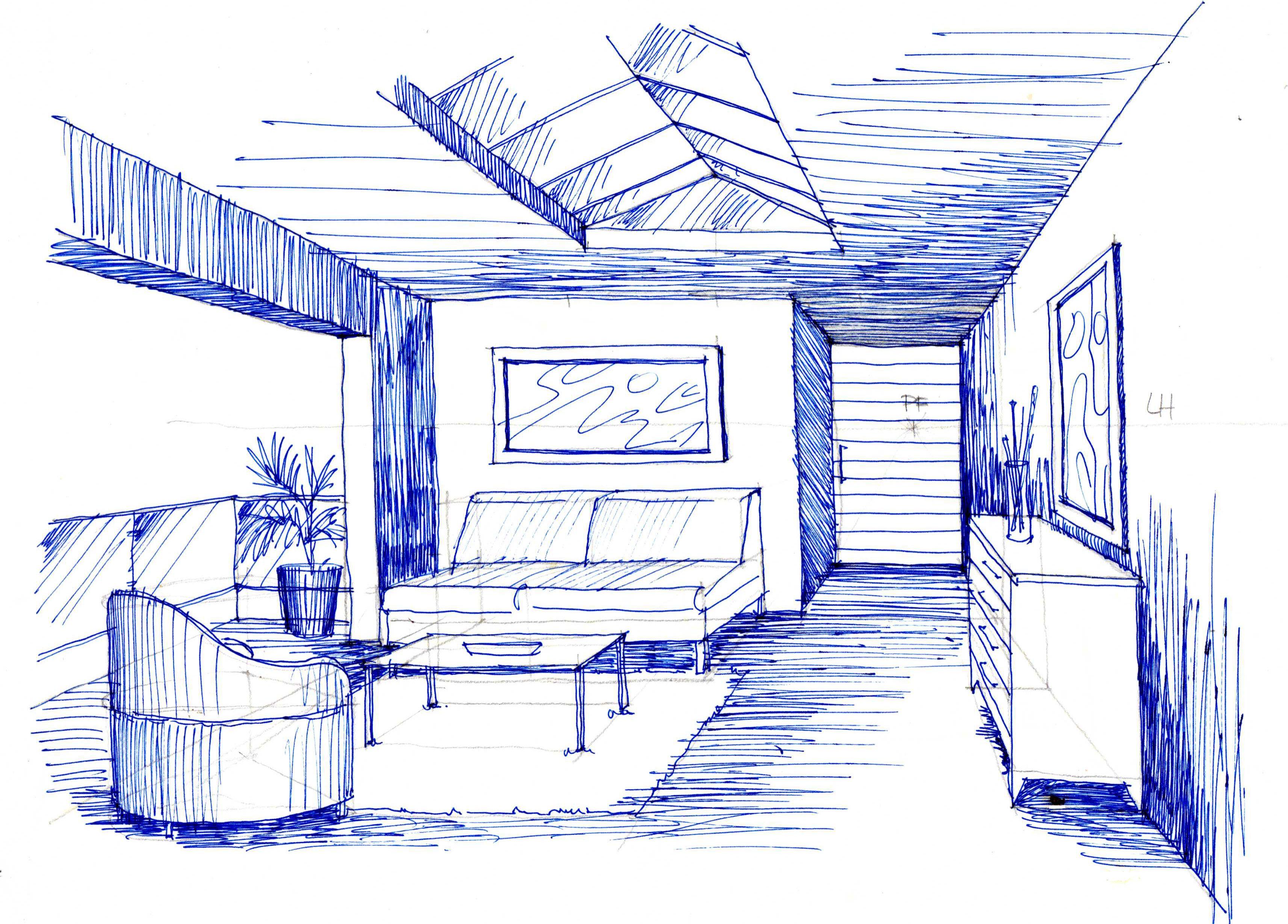 Dibujo En Perspectiva Con Un Punto De Fuga Como Dibujar En Perspectiva Punto De Fuga Dibujo Perspectiva