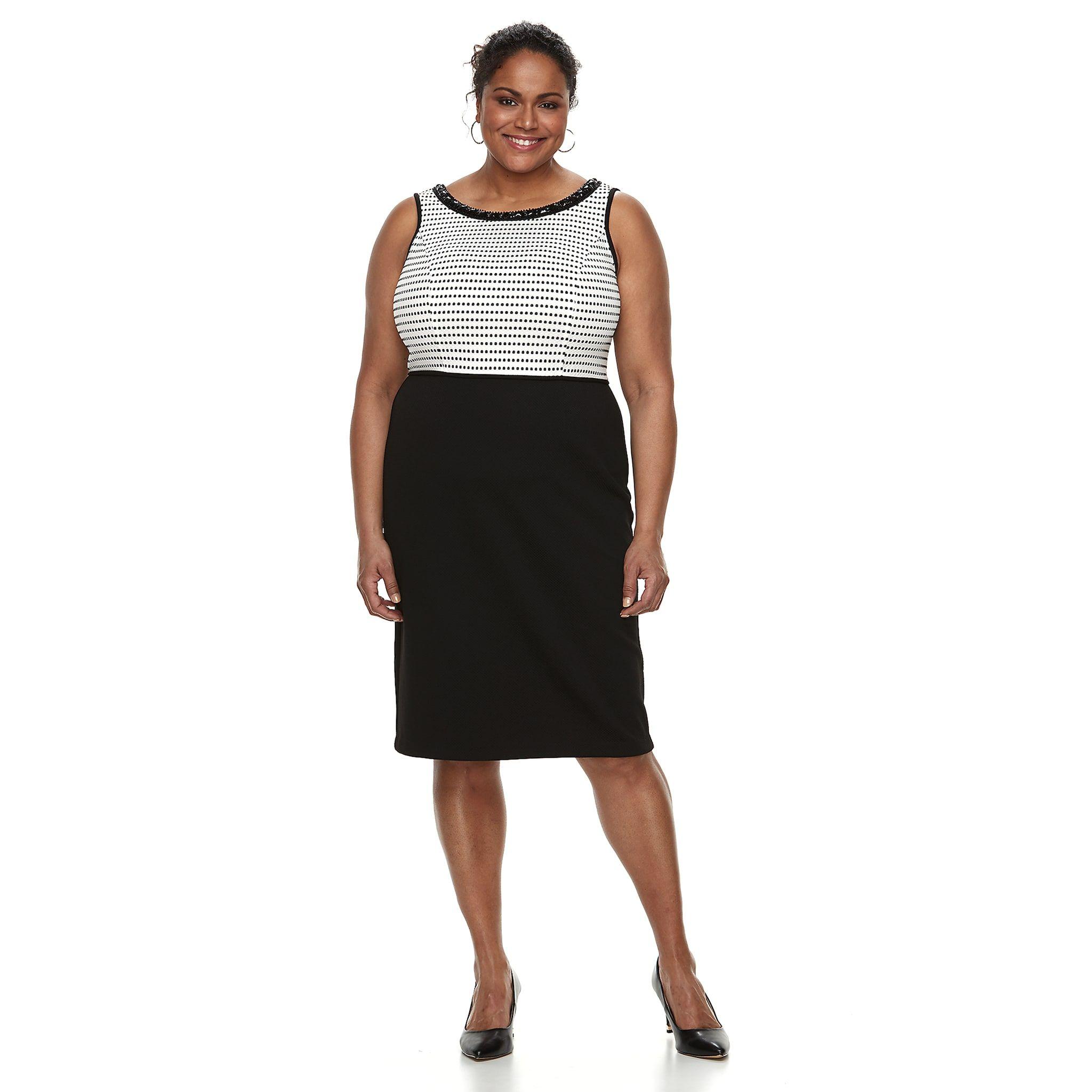a29f9a4b0b2 Plus Size Maya Brooke Colorblock Dress   Jacket Set  Brooke