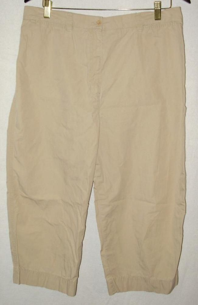 Womens tan capri pants-Lauren by Ralph Lauren-Size 16-cotton ...