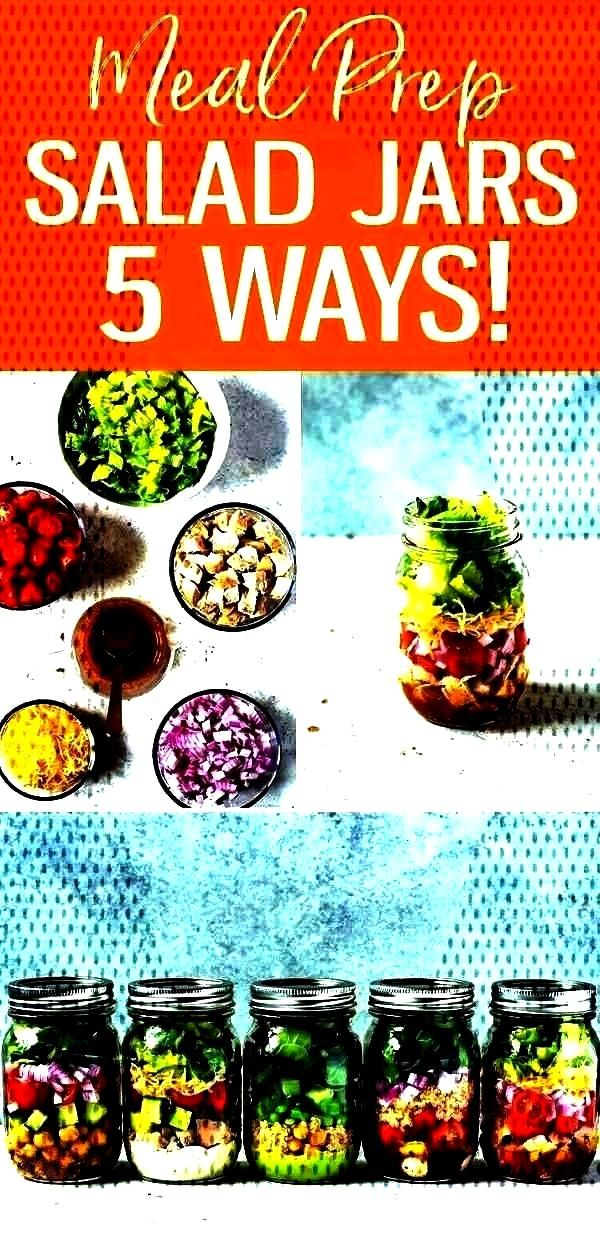 Mason Jar Salad Recipes for Easy Lunches! - Cooking -5 Mix and Match Mason Jar Salad Recipes for E