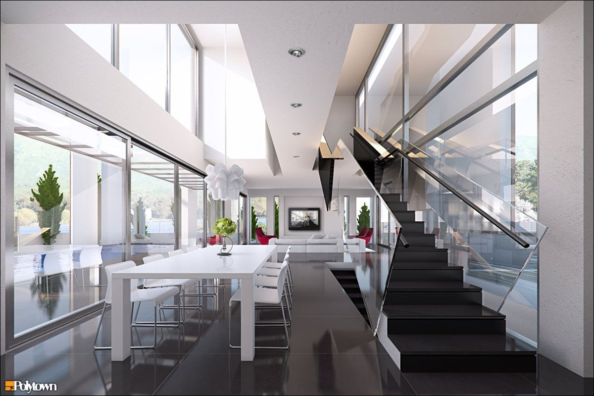white modern dining room. 10 Luxurious Dining Room Design Styles With Variety Of Model Concepts  RooHome Designs Plans