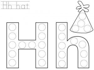 photo regarding Letter H Printable identify do-a-dot-letter-h-printable Lower mini Letter h