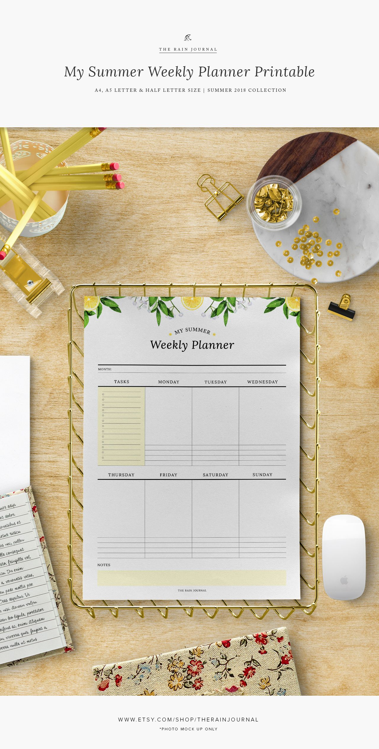 My Summer Weekly Planner A5filofax A5weeklyplanner Weeklyplanner Printableweekly Weeklywallplanner Wallplanner Deskplanner Kikkik Midori Plannerinser