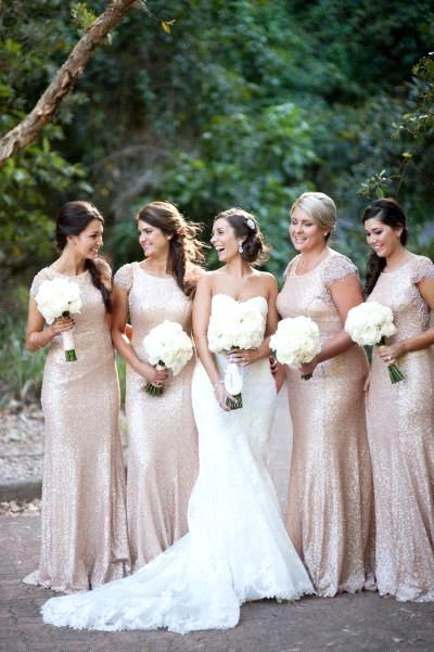 Champagne Y Bridesmaids Dresses Good For All Body Types