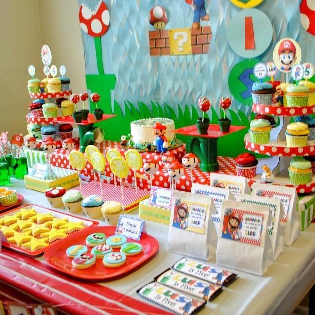 Super Mario Birthday Party Super Mario Birthday Party Mario Bros Birthday Party Ideas Mario Birthday Party