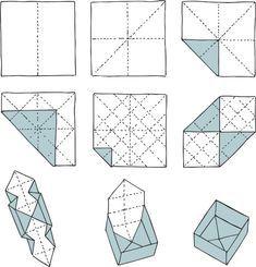 Origami Box   Schachtel falten   Anleitung
