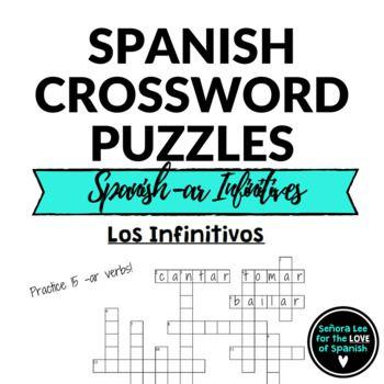 Spanish Verbs CROSSWORD Spanish AR Verbs Spanish