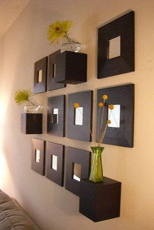 Adornos de pared para sala cuadrados buscar con google for Espejos decorativos para pasillos