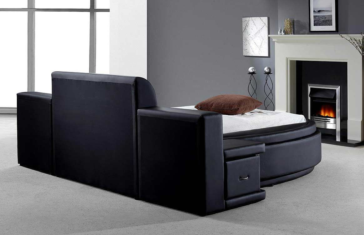 round platform bed bedroom furniture modern bedroom furniture - Circle Beds Furniture