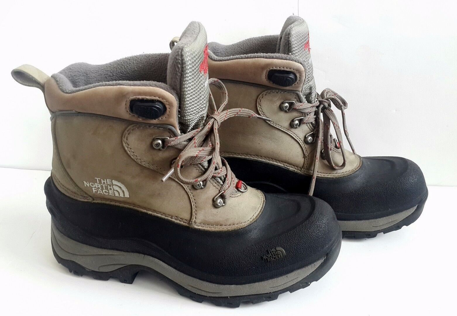 a3946eaeb Details about The North Face Youth Size 2 Winter Snow Boots Black ...