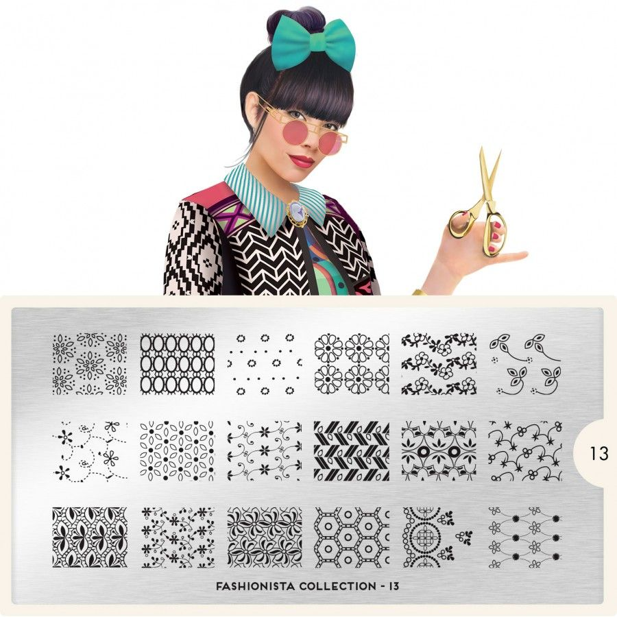 MoYou-London Fashionista Plate Collection 13