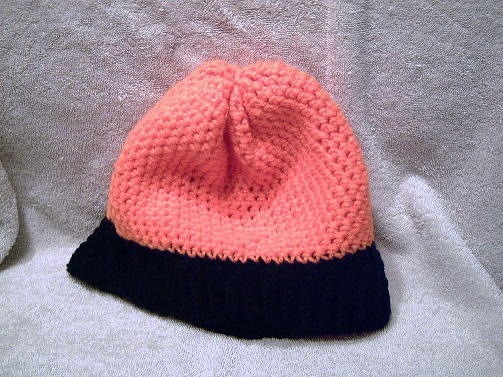 NEW Handmade adult crocheted orange   black Chicago Bears stocking cap   fashion  clothing   4ad41112ab43